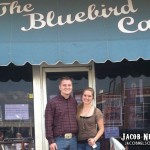 Jacob Neson and Molly Wineland outside the Bluebird Cafe in Nashville, TN